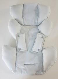 Redutor para bebê conforto - Tijolinho cinza